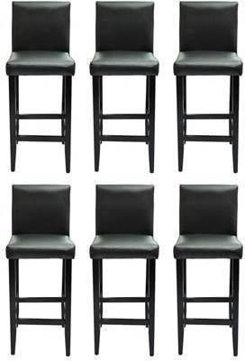 Goedkoopste barkrukken modern kunstleer zwart 6 st vergelijken en