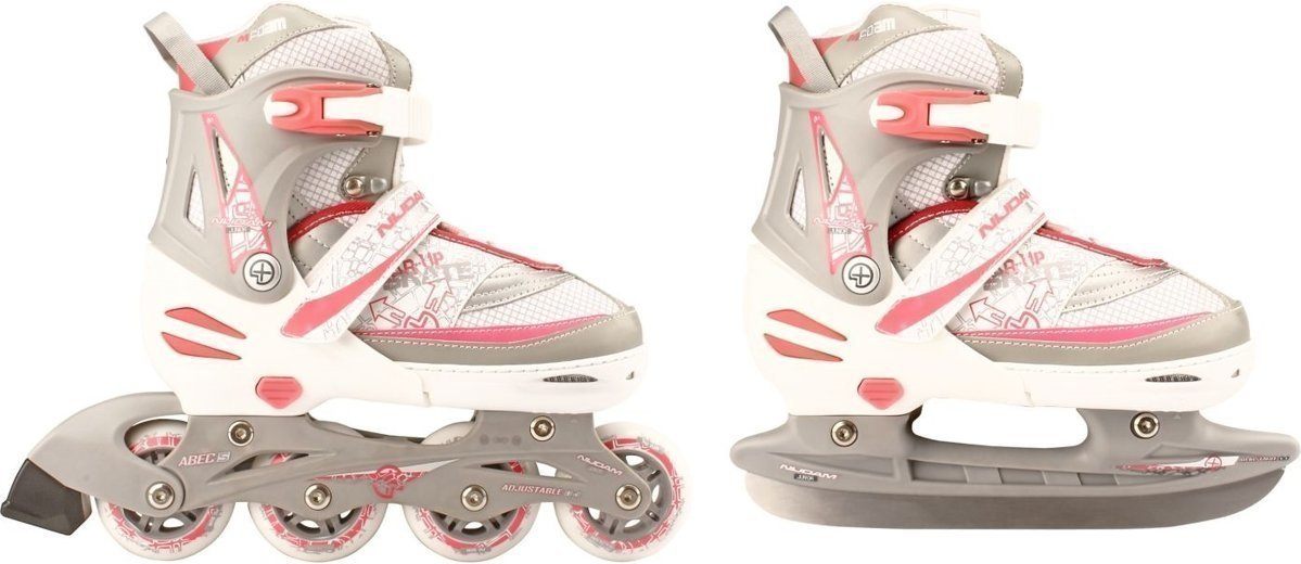 5a7a0bbf035 Goedkoopste Nijdam Combo skate/schaats junior roze/zilver maat 39/42 ...