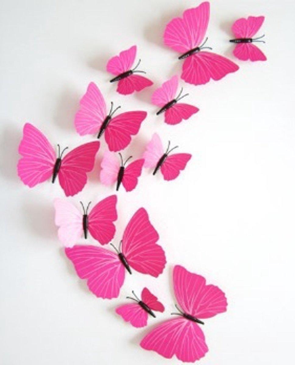 Vlinder Decoratie Babykamer.Goedkoopste Premium 3d Vlinders Muursticker Muurdecoratie Voor