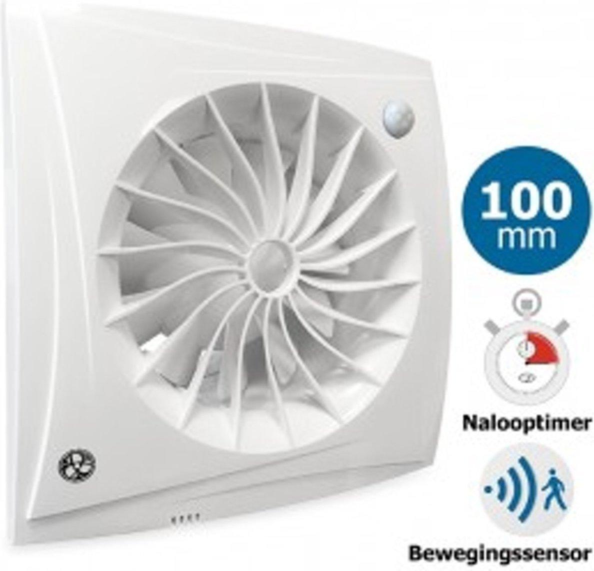 Badkamer/toilet ventilator Blauberg Sileo - 100mm - MET TIMER + ...