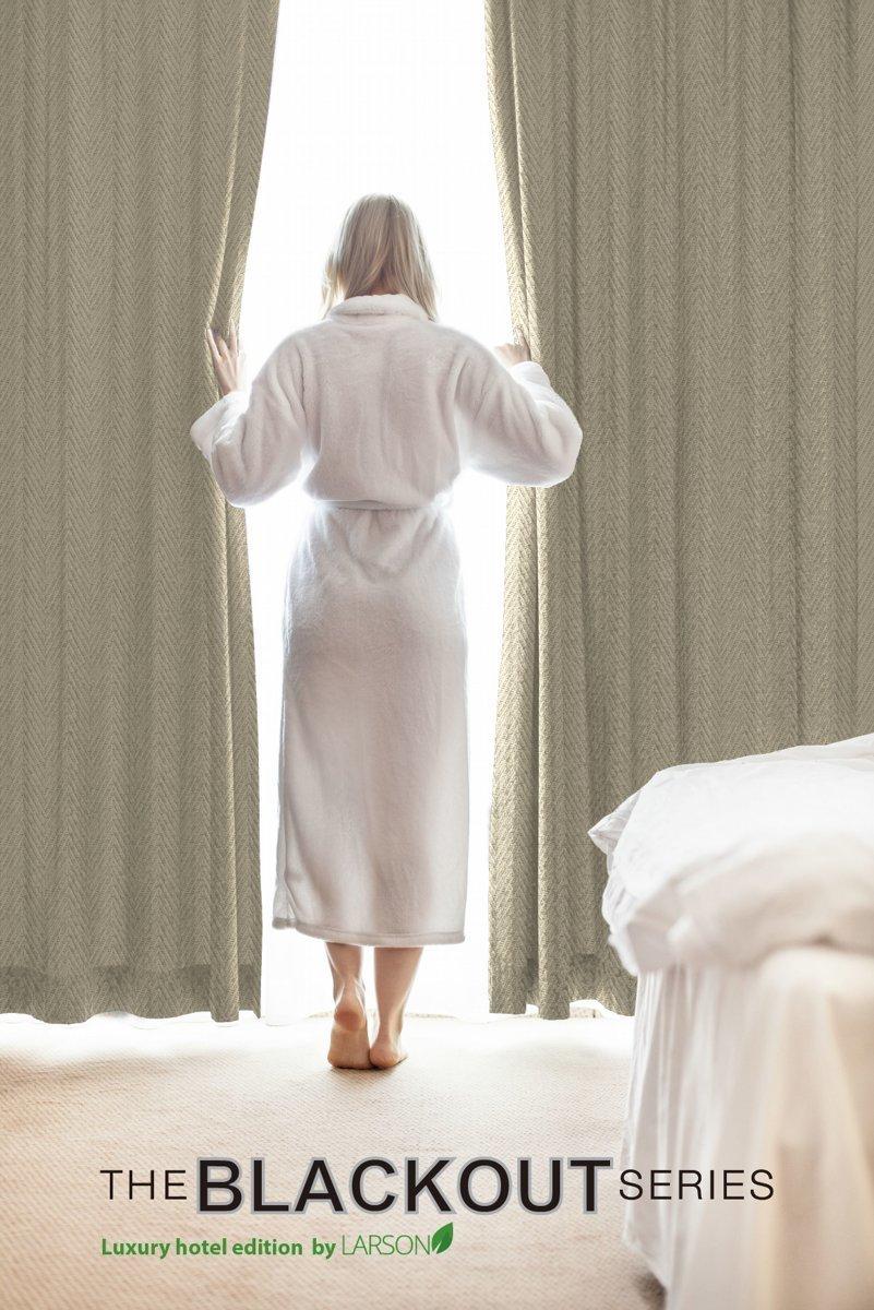 Goedkoopste Luxe Hotel Serie Blackout Gordijn Met Visgraat Motief