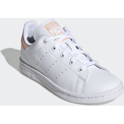 adidas originals Stan Smith C leren sneakers witlichtroze