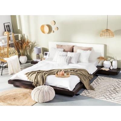 Tweepersoonsbed 180x200 Cm.Futonbed Houten Bed Bed 180x200 Cm Japans Design Lederen Bed Zen